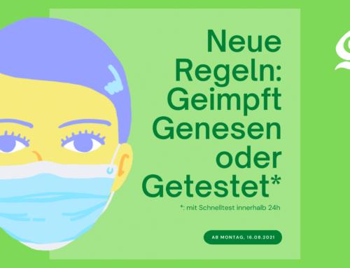 Neue Regeln: Geimpft, Genesen oder Getestet