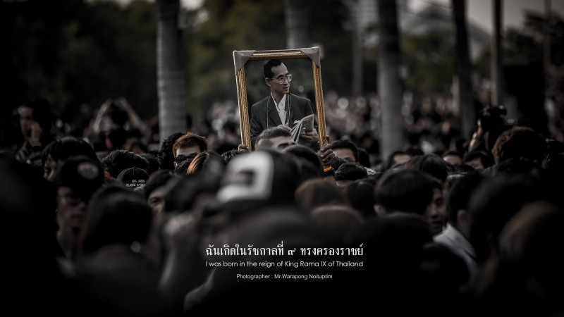 König Bhumibol. Trauer in Bangkok