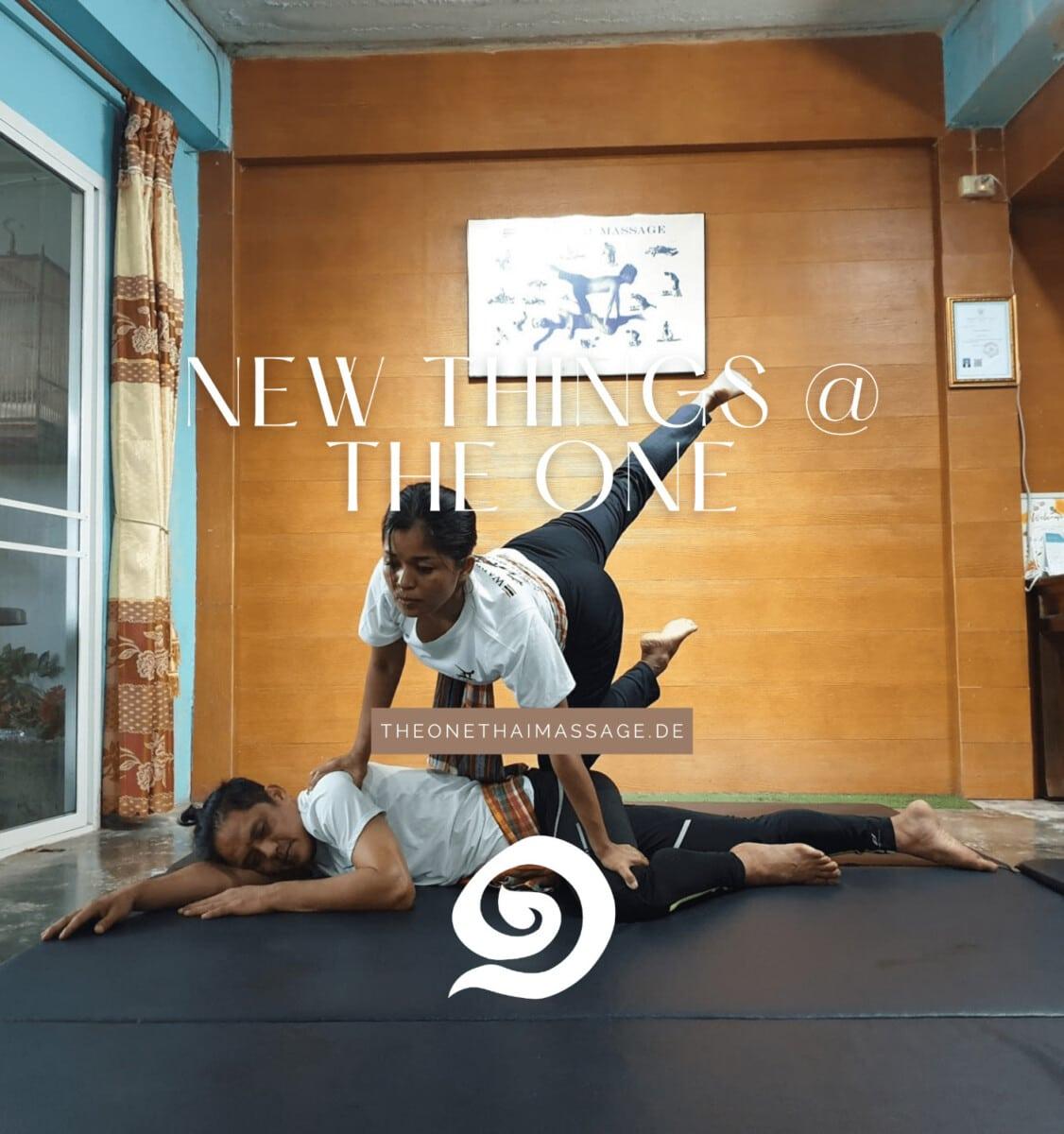 Neue und moderne Massagetechniken wie Thai Yoga in der The One Thai Massage