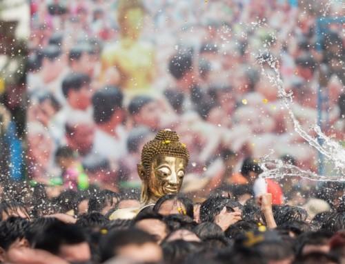Songkran. Thailand's traditionelles Neujahrsfest.