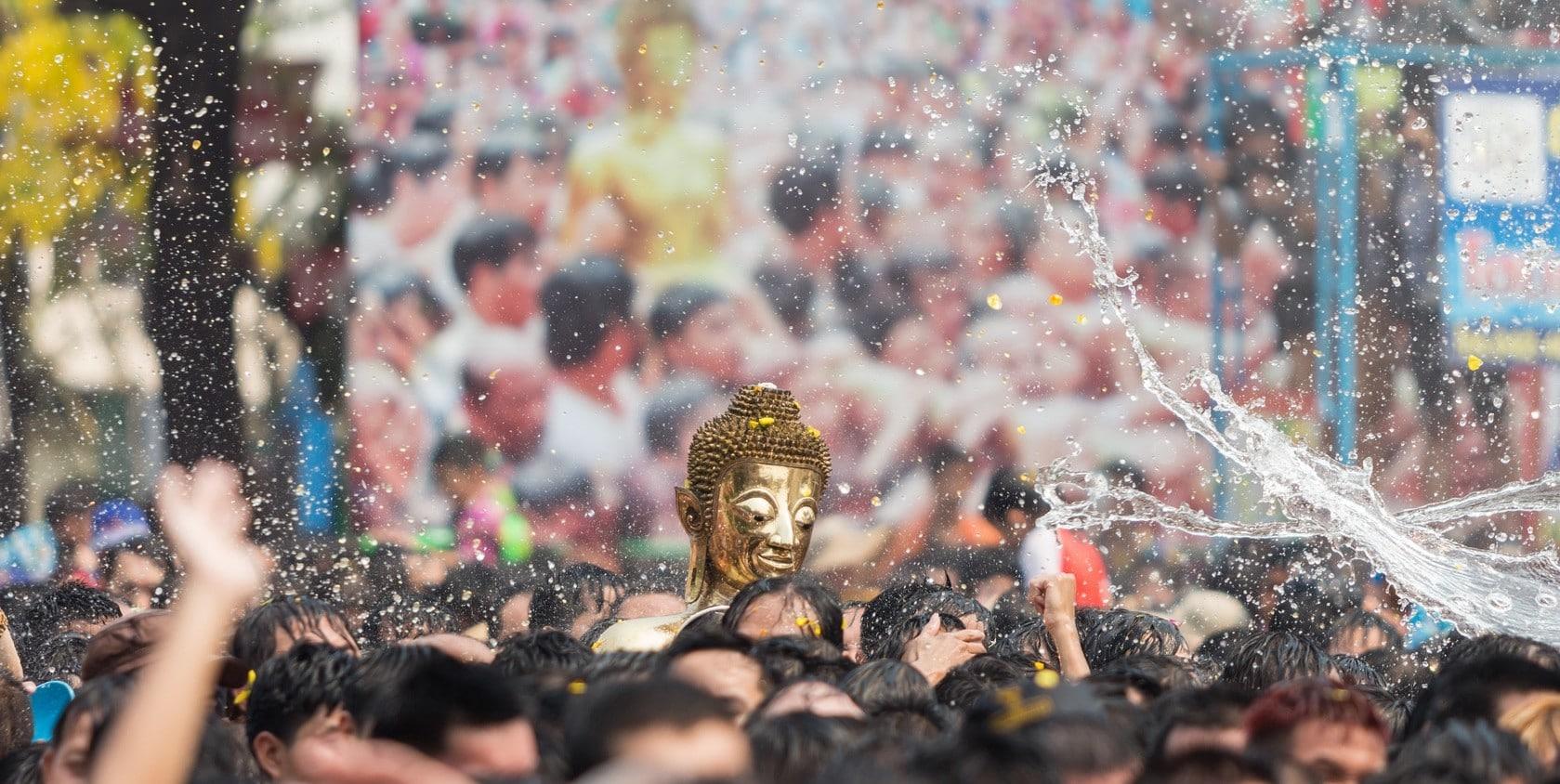 Traditionelles Neujahrsfest in Thailand